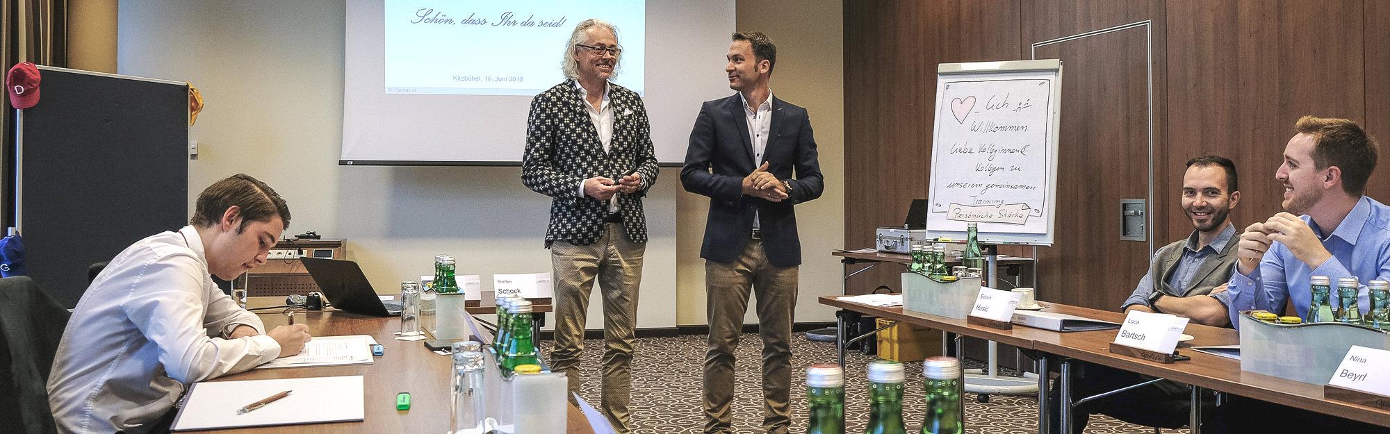 Bernhard Patter & Steffen Schock im Training